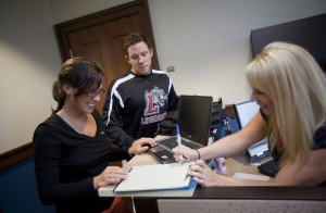 The Hub has acquired laptops available for student-athlete use during competition travel